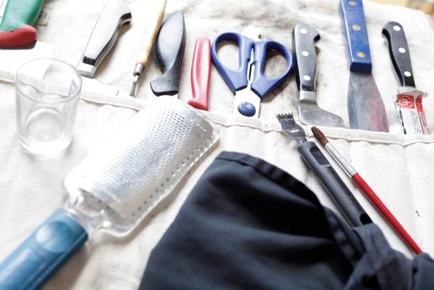 A food stylist's tool kit