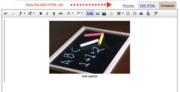 a blogger screenshot showing a photo upload