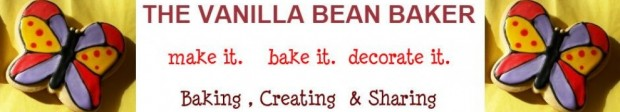 Vanilla Bean Baker Blog header - butterfly cookies