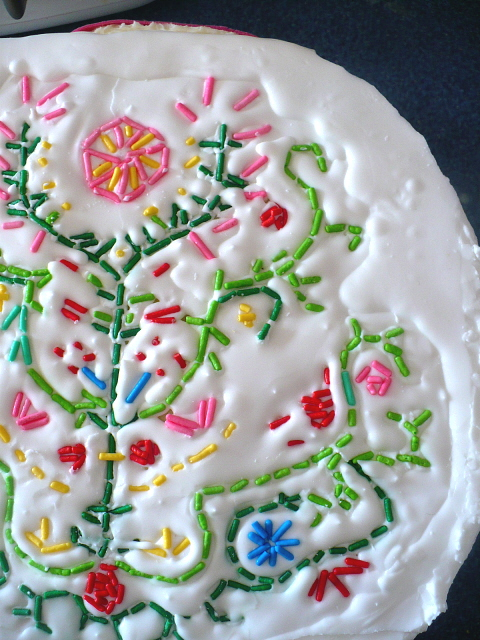 Clockwork Lemon Embroidered Cake