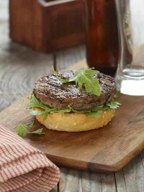 arugula option for dressing a burger