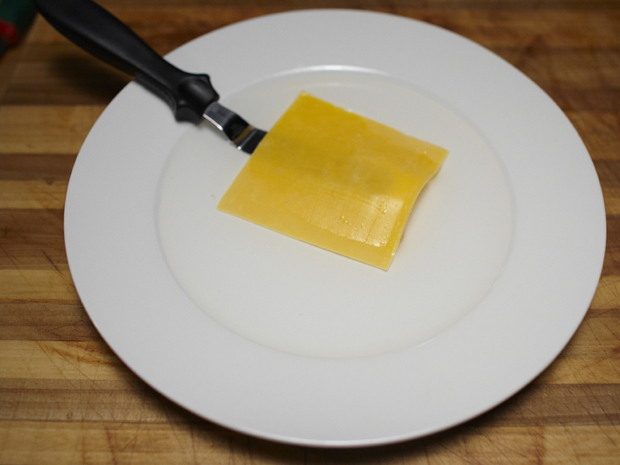cheese in boiling water