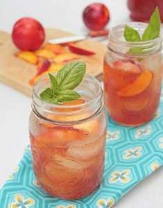 Basil nectarine iced tea What she's having blog