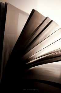 light falling through a book's pages