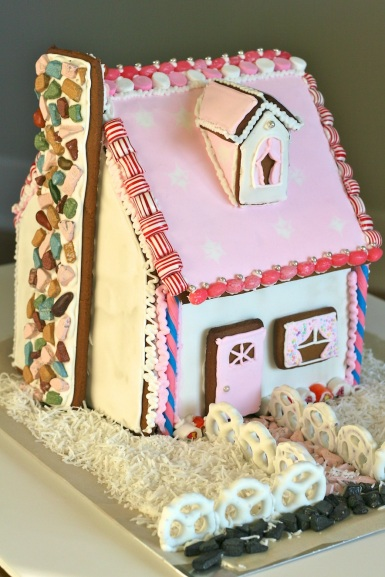 Pink Gingerbread Cottage