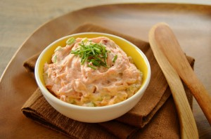 Lightly smoked salmon dip