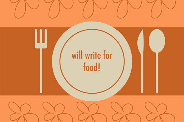 plate with will write for food