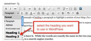 screenshot of the WordPress editor