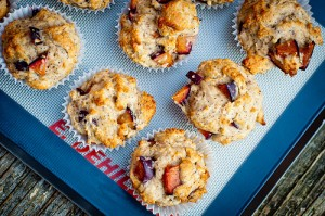 Plum Poppyseed Muffins