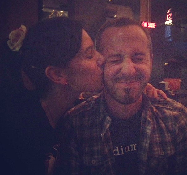 Being a regular at Charcut has gotten Dan in the kitchen and a smooch from chef Connie DeSousa