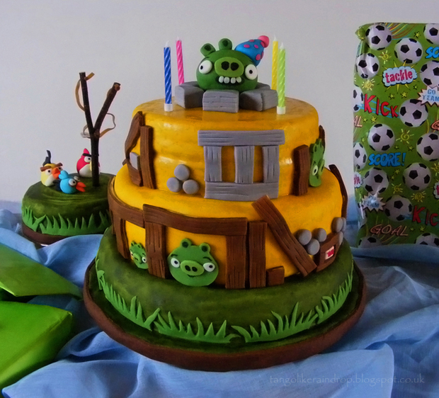 angry birds birthday cake sm