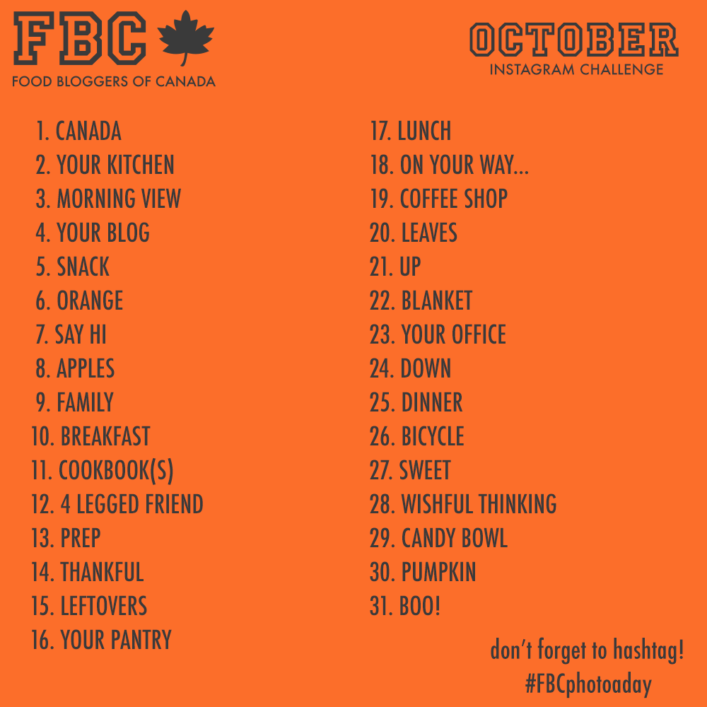 Our First Monthly Instagram Photo A Day Challenge Food