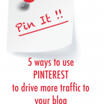 5 Ways To Use Pinterest to Drive Traffic To Your Blog | www.foodbloggersofcanada.com