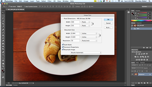 Resiging Photos in Photoshop - After