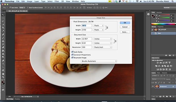 Resiging Your Photos in Photoshop - Before