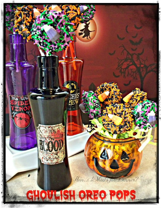 Ghoulish Oreo Pops from Hun What's For Dinner