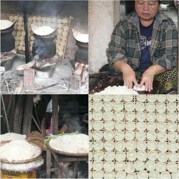 How to make rice cakes in Laos on eatlivetravelwrite.com