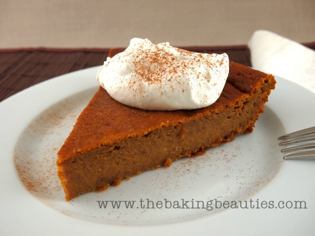 Baking Beauties crustless pumpkin pie