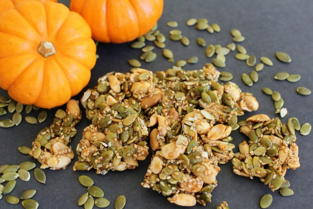 Pumpkin Brittle - NourishWithKaren