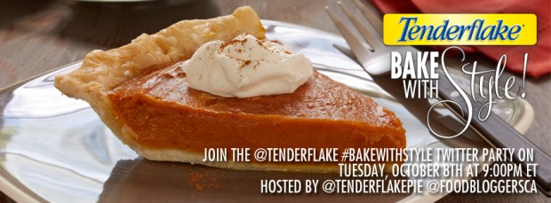 #bakewithstyle twitter party with tenderflake