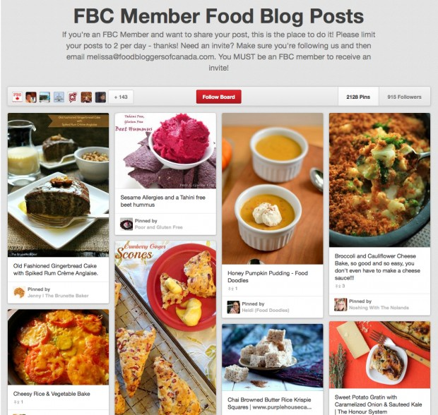FBC Pinterest Group Board | www.foodbloggersofcanada.com