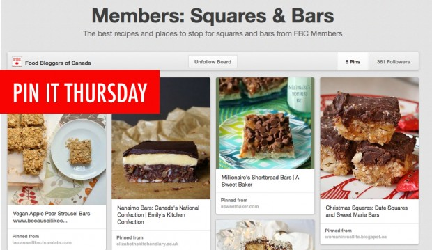 Pin It Thursday - Squares & Bars | Food Bloggers of Canada