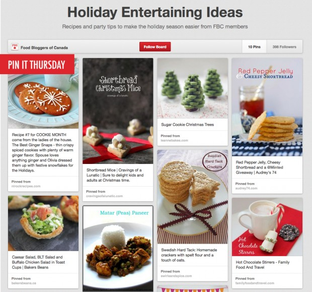 Pin it Thursday Holiday Entertaining | www.foodbloggersofcanada.com