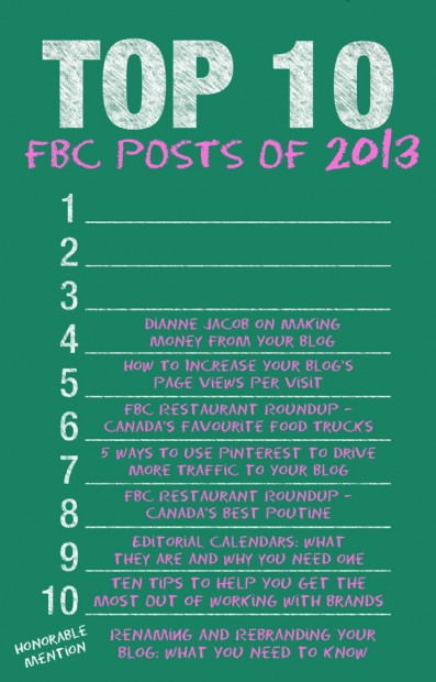 Top 10 Post of 2013 from FBC | food bloggers of canada