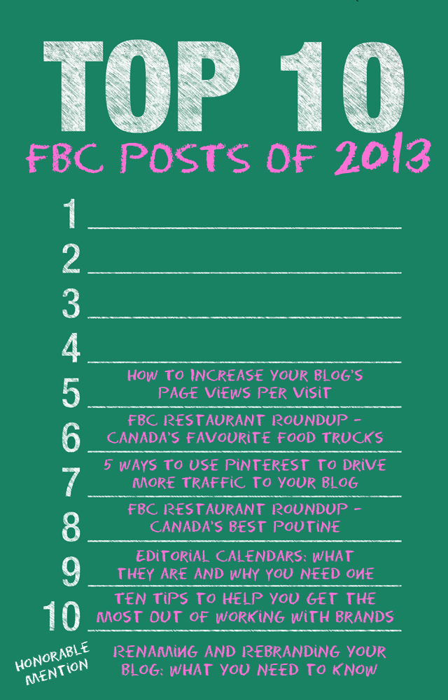 The FBC Top Ten of 2013 | www.foodbloggersofcanada.com