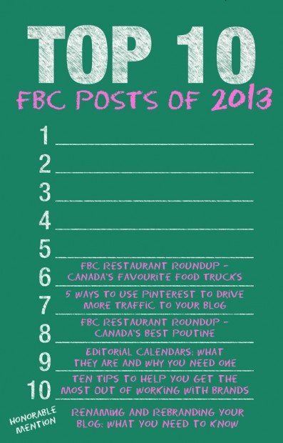 The Top Ten FBC Posts of 2013 | www.foodbloggersofcanada.com