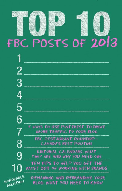 Top 10 FBC Posts of 2013 | www.foodbloggersofcanada.com