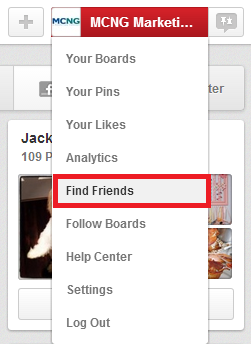 Find Friends Feature on Pinterest | www.foodbloggersofcanada.com