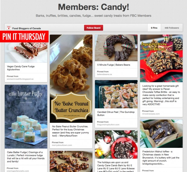 Pin It Thursday Candy | Food Bloggers of Canada