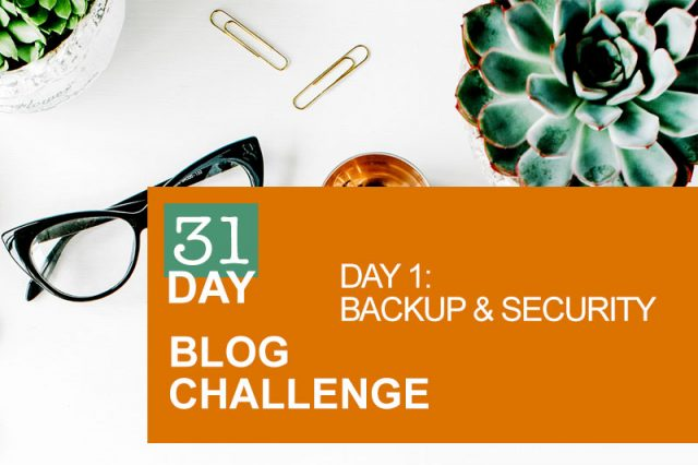 31 Day Blog Challenge Day 1: Backup & Security
