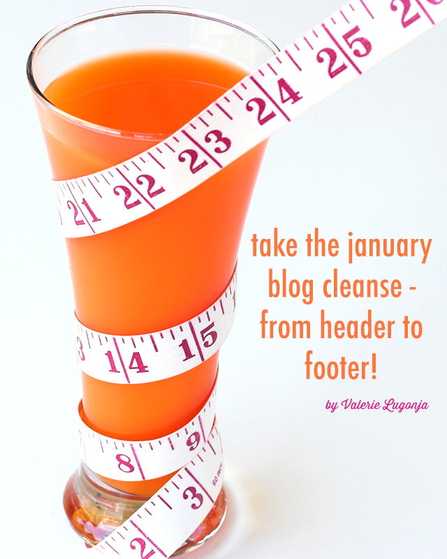 The January Blog Cleanse from Header to Footer | FBC www.foodbloggersofcanada.com