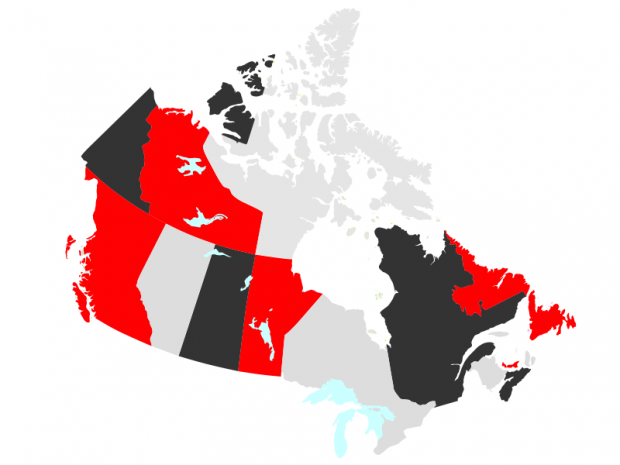 Membership Map of Canada