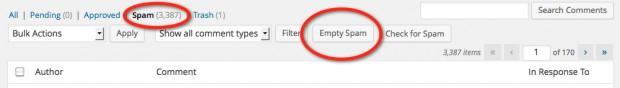 Empty your spam folder