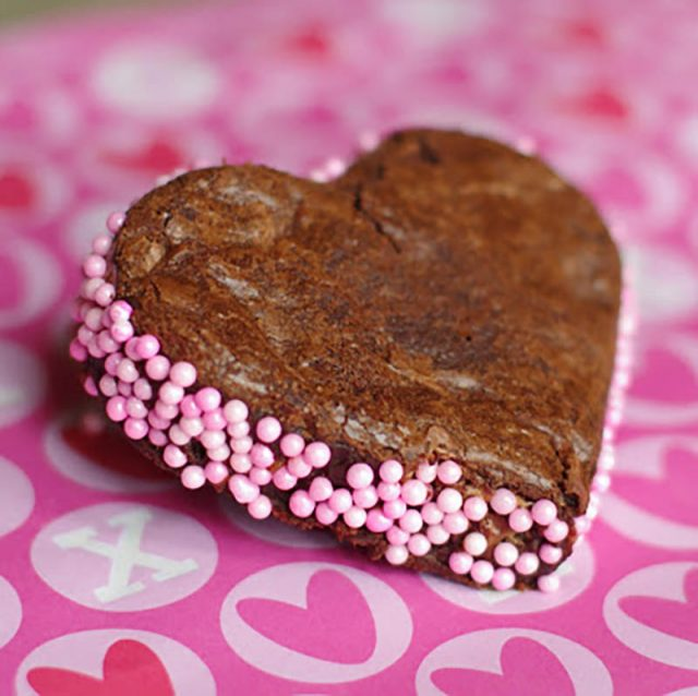 Mars Bar Valentine's Day Brownies