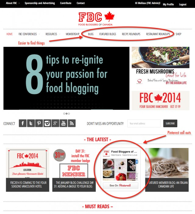 FBC Home Page Highlights