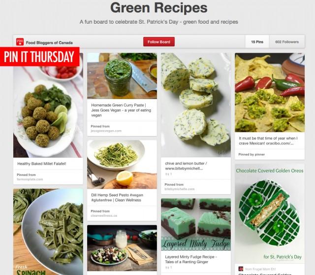 FBC Pin It Thursday, Green Recipes