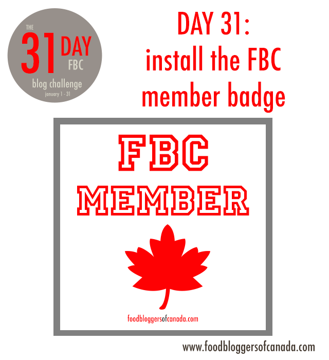 Day 31 of the FBC 31 Day Blog Challenge: Install the FBC Member Badge