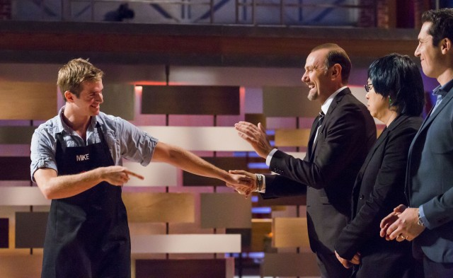 Mike says his final goodbyes to the MASTERCHEF CANADA judges