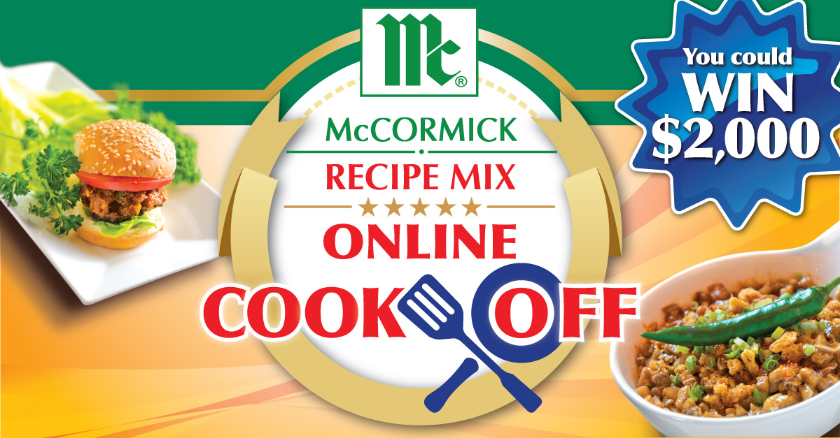 McCormick Canada's Online Cook-Off! $2000 is up for Grabs