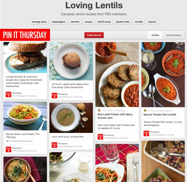 Pin It Thursday - We're Loving Lentils
