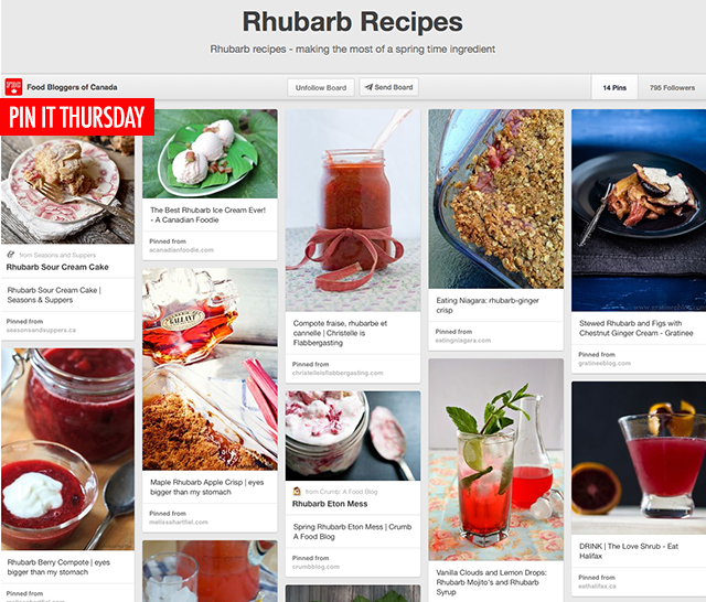 Pin It Thursday - Rhubarb Recipes