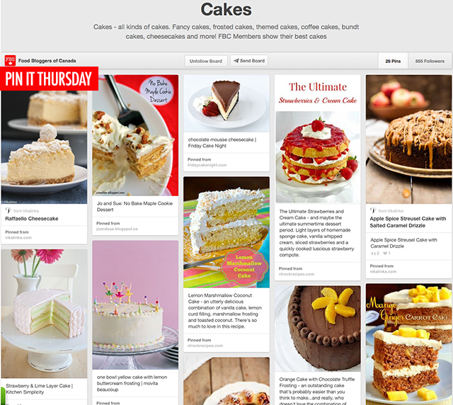 Pin It Thursday - Cakes | Food Bloggers of Canada