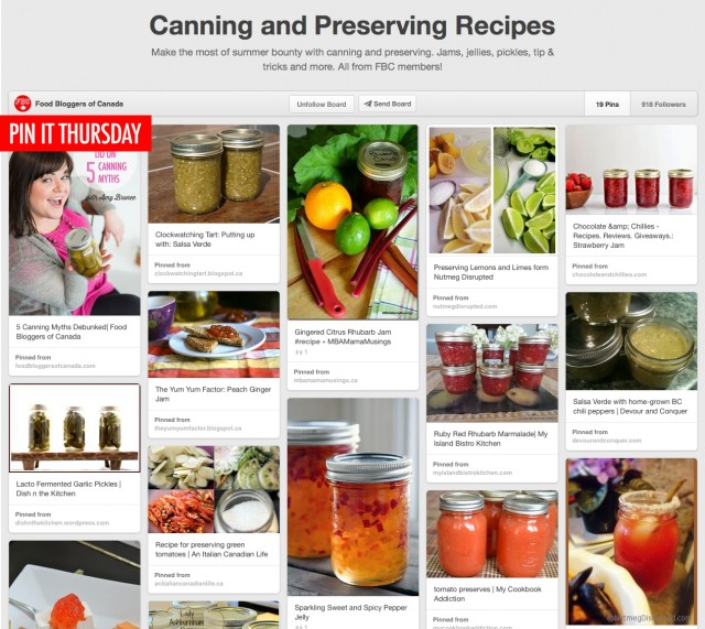 Pin It Thursday: Canning & Preserving | Food Bloggers of Canada