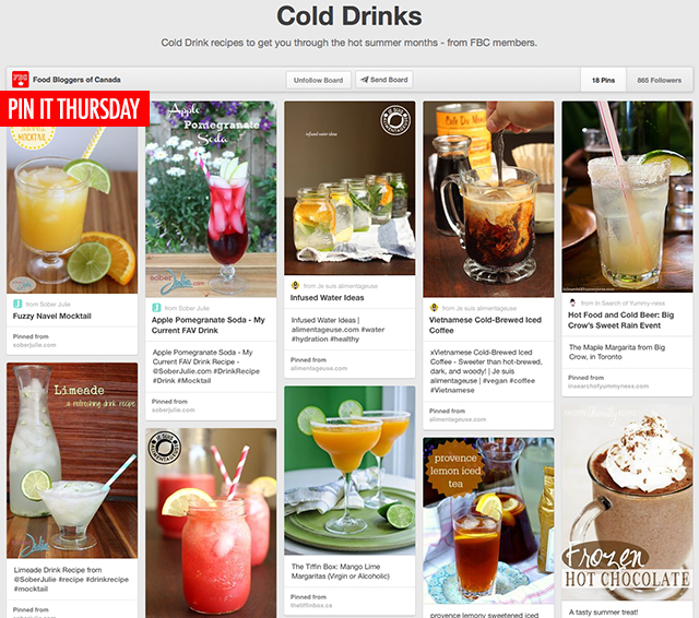 Pin It Thursday - Ice Cold Beverages