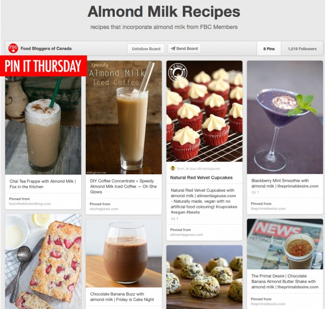 Pin It Thursday - Almond Milk Recipes | food bloggers of canada