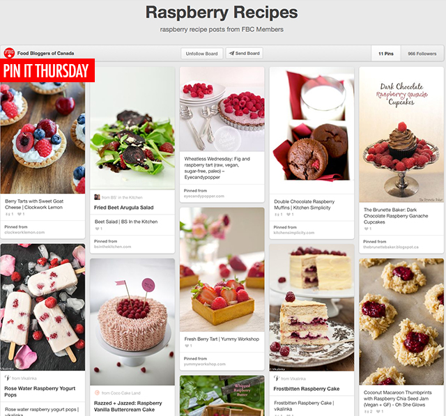 Pin It Thursday - Raspberries | Food Bloggers of Canada